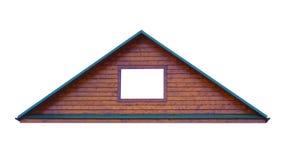 在空白背景查出的三角金属屋顶 免版税图库摄影