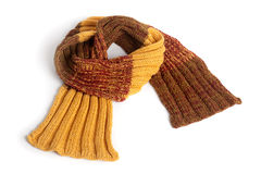 在空白背景查出的冬天围巾 图库摄影