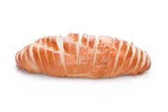 在空白背景查出的切的面包 免版税图库摄影