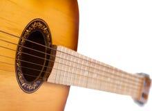 在空白背景查出的吉他 免版税库存照片