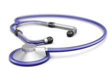 在空白背景查出的听诊器 3d回报image.colorful圆筒 库存照片