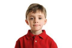 在空白背景查出的小男孩纵向 库存照片
