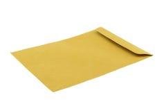 在空白背景查出的布朗信包 免版税库存图片