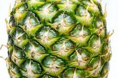 在空白背景查出的成熟全部的菠萝 免版税图库摄影
