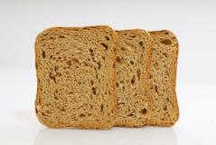 在空白背景查出的敬酒的面包 免版税图库摄影
