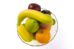 在空白背景查出的新鲜水果 免版税库存图片