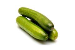 在空白背景查出的新鲜的黄瓜 免版税库存照片
