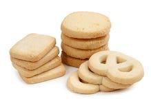 在空白背景查出的曲奇饼 免版税库存图片