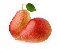 在空白背景查出的梨 全部的果子 免版税图库摄影
