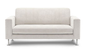 在空白背景查出的沙发家具 库存图片