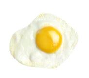 在空白背景查出的煎蛋 免版税库存照片