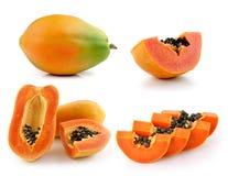 在空白背景查出的番木瓜 免版税图库摄影