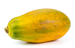 在空白背景查出的番木瓜 免版税库存图片