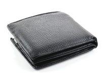 在空白背景查出的皮革钱包 图库摄影