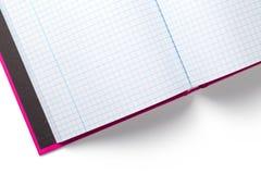 在空白背景查出的笔记本 图库摄影