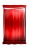在空白背景查出的红色强烈的-铝-金属袋子程序包 免版税库存照片