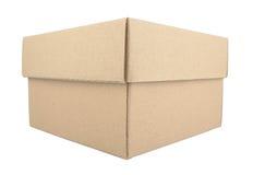 在空白背景查出的纸板箱 库存图片