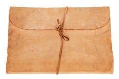 在空白背景查出的老日志或象册书 免版税库存图片
