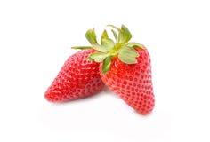 在空白背景查出的草莓 库存照片