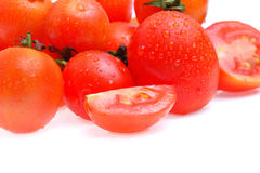 在空白背景查出的蕃茄 免版税库存照片