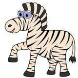 斑马动画片向量例证 免版税库存图片