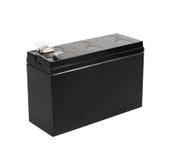 在空白背景查出的黑色电池 库存图片