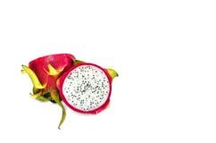 在空白背景查出的龙果子 免版税库存图片