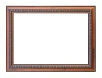 在空白背景查出的经典木制框架 库存图片