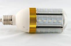 在空白背景查出的LED电灯泡 免版税库存照片