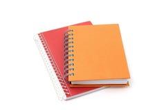 在空白背景的二个笔记本 免版税库存图片