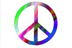 在空白背景的五颜六色的和平标志 免版税库存照片