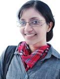 在空白背景的印第安学员。 免版税库存照片