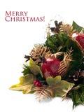 在空白背景的圣诞节装饰 库存图片