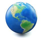 在空白背景的地球 免版税库存图片