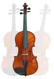 在空白背景的小提琴与裁减路线 免版税库存照片