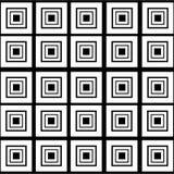在空白背景的抽象正方形 免版税库存图片