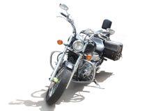 在空白背景的摩托车 免版税库存照片
