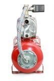 在空白背景的新的自动水泵 库存图片