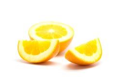 在空白背景的新鲜的桔子 免版税图库摄影