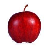 在空白背景的新鲜的红色苹果 库存照片