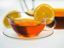 在空白背景的果子茶 免版税库存照片