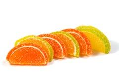 在空白背景的果冻糖果 免版税库存照片