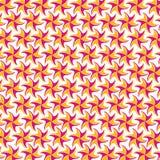 在空白背景的桃红色黄色花纹花样 免版税库存照片
