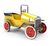 在空白背景的玩具汽车 免版税库存照片