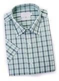 在空白背景的男式衬衫 免版税图库摄影