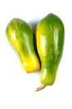 在空白背景的番木瓜果子 免版税库存照片