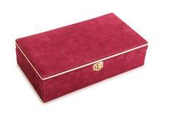 在空白背景的红色配件箱 图库摄影