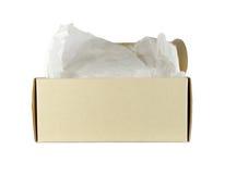在空白背景的纸板箱 免版税库存照片
