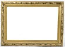 在空白背景的老画框 图库摄影
