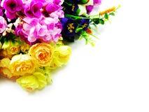 在空白背景的花束花 免版税库存图片